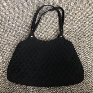 Vera Bradley Black quilted purse w/ gold hardware